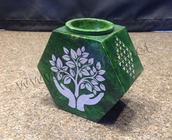 Coloured Soapstone Aromatherapy Spa Burner