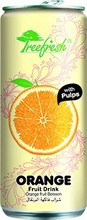 Orange Fruit Juice Drink With Bits