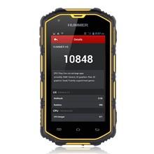 Smart Phone IP68 Waterproof MTK 6572 1.2GHz Dual Core Android 4.4 Dustproof Shockproof GPS Super Outdoor Rugged phone HUMMER H5