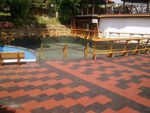 ErgoTile QUAD swimming pool area rubber tile