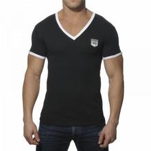 plain V-neck t-shirt fashion design men's high quality plain t-shirt