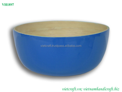 Unconvetional bamboo bowl 100% ecofriendly material dark blue outside