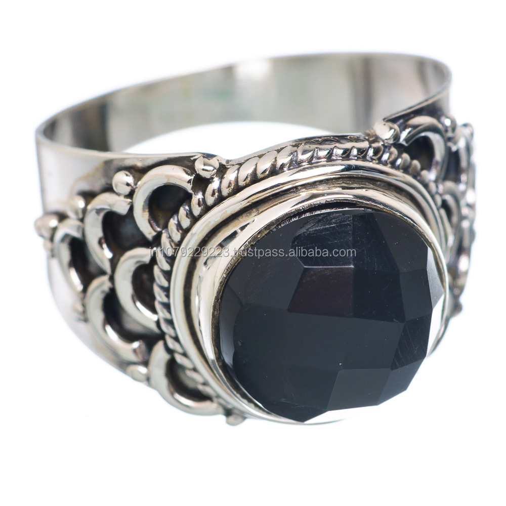 black onyx ring wholesale silver jewelry silver exporter
