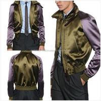 Viscose Silk Satin Bomber Jacket Varsity College Satin Jacket/Letterman Varsity Jacket/Basketball Varsity Jacket