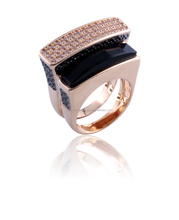 Gold Plated Fashion Ring with natural stone