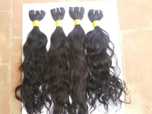 2015 Hot Selling fresh cutted no acid proces only temple Hair Bulk 100% virgin remy Hair Indian Hair