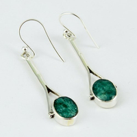 Frost Breeze Dyed Emerald 925 Sterling Silver Earring Jewelry, Silver Jewelry 925, Silver Jewelry Wholesaler