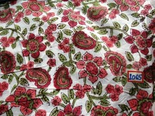 Sanganeri block print 100% cotton fabric at cheap price online sale 2015