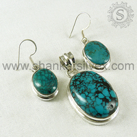 Heavenly Love !! Turquoise 925 Sterling Silver Jewelry Set, Party Wearing Silver Jewelry 3SCB2012-2