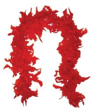 RED FEATHER BOA #025660