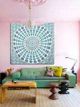 Indian Mandala Tapestry Wall Decor Beach Throw Twin Bedspread Hippie Throw