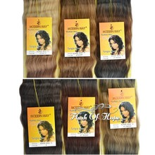"""Ombre Super Wave Hair Weave Three-Tone Color Real Hair Mixed Animal Hair Extensions 14"""" 16"""" 100g/pc 6Packs/lot 3T1B/230"""