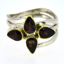 Garnet Good Gemstone Ring, 925 Sterling Silver Ring, India Fashion Bridal hand some Ring X4321