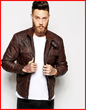 Custom Made Man Leather Jacket