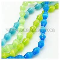 Cat Eye Beads Strands, Drum, Mixed Color, 11x8mm, Hole: 1mm CE-C002-M7