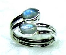 Indian Supplier Rainbow Moonstone Gemstone Sterling Silver Rings For Girls-ss4r203