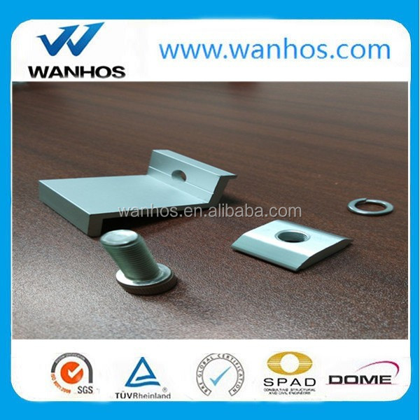 2016 aluminum clamps and fixtures for solar roof mounting