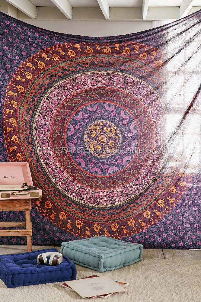 Home Decor Wall Tapestry : Indian mandala tapestry wall hanging home decor
