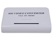 High Definition VGA to HDMI TV HD Video Signal Converter - White