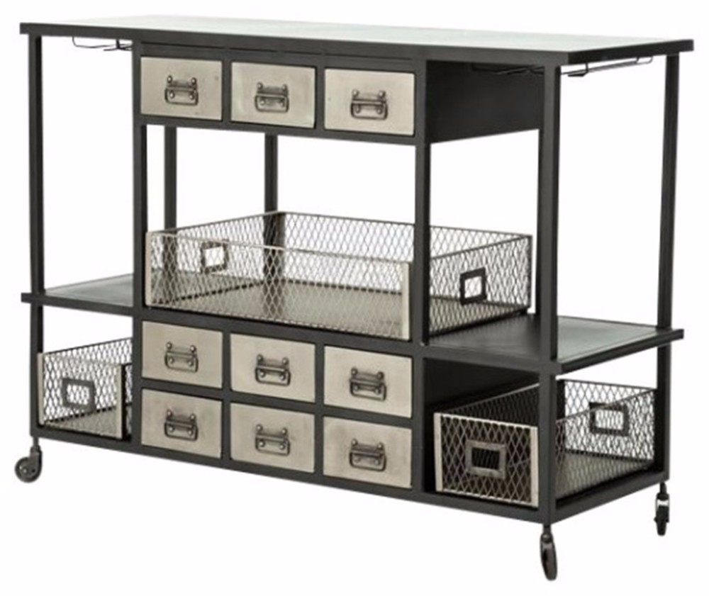 Industrial Kitchen Trolley: Industrial Rustic Metal Kitchen Cart/ Metal Trolley, View
