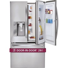 Discount sale on all brands of 28.6 Cu. Ft. French Door Refrigerator with Thru-the-Door Ice and Water - Stainless-Steel