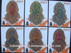 strass jóia indiana oferta de exportação bindi cabelo