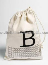 light weight 8oz canvas drawstring pouch
