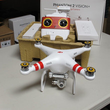 Free Shipping on DJI Phantom 2 Vision+ Quadcopter Flying Camera with Extra Battery