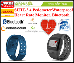 SIFIT-2.4 Pedometer Steps walked keep record every 1 minute. Activity tracker Call reminder, heart rate moni