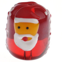 Christmas Glass Beads Drum ushwo red 18x15mm Hole:Appr 1.5mm Sold By PC