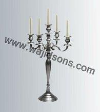 Floor Standing Metal Black Candle Holders and Aluminium 5 Arms BlackCandelara