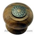 41mm mushroom madeira armário puxador com antigas moedas de bronze