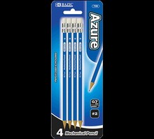 BAZIC Azure 0.7 mm 2B Mechanical Pencil (4/Pack)