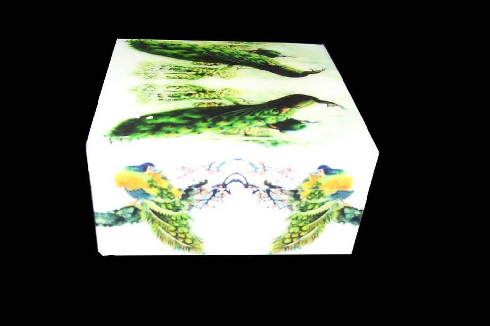 Impressão DIGITAL de caixa de madeira em pavão projeto