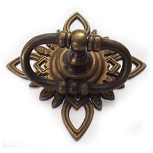 "Brass Ring tiradores-golden filigrana Stare ovalado tire 7 """