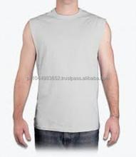 ที่มีคุณภาพสูงแขนกุดผ้าฝ้าย100%ผู้ชายเสื้อ