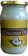 unrefined organic virgin coconut oil in 400 ml glass bottle