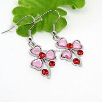 fashion alloy matt sliver enamel flower earring jewelry(22529)