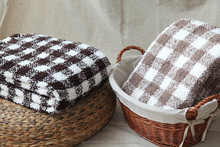 Faux Mohair Fancy/Luxury Stripe/Check Throw/Blanket yarn dyed
