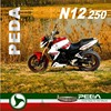 (N12) 2015 NEW 250cc powerful motorcycle racing EEC water cooling Italian Design EXCLUSIVE (PEDA MOTOR)