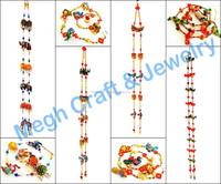 Diwali special home decor wall hanging-Animal Themed door hanging-handmade pearl beaded indoor Toran-Wholesale Gujarati Toran