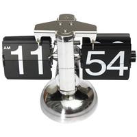Audew 2015 New Metal Vintage Auto Flip Style Stand Clock Scale Design Retro Room Desk Clock