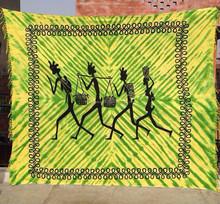 Printed Indian tapestries bulk, wholesale hippie designs tapestry mandala, gecko car throws