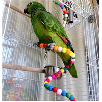 Colorful Parrot Rotating Ladder Parrot Standing Rope Pet Bird Parrot Cage Macaw Cockatoo Cockatiel Conure Rotating Staircase