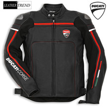 Mens Ducati Corse Premium Quality Replica Motorbike Racing Leather Jacket