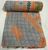 RTHKG-132 2015 latest hot vintage Indian vintage Print Kantha Quilt Decorative Bedspread, kantha Fruit design Bed Cover Jaipur