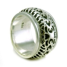 Perfect Spinning !! Oxidized Plain Silver 925 Sterling Silver Ring, 925 Sterling Silver Jewelry Wholesale, Silver Jewelry
