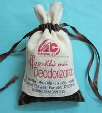 Vietnam small cotton drawstring gift bags