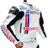 Honda Repsol Certified Ce Armour Motorcycle/Motorbike Biker Protective Premium Quality Cow Grain Leather Jacket