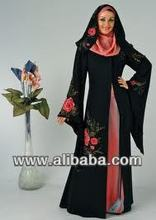 abaya pink patch paint design
